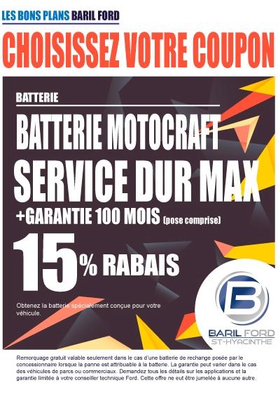Batterie Motocraft