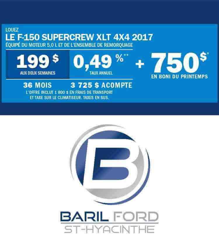 Offre F150 Juin 2017