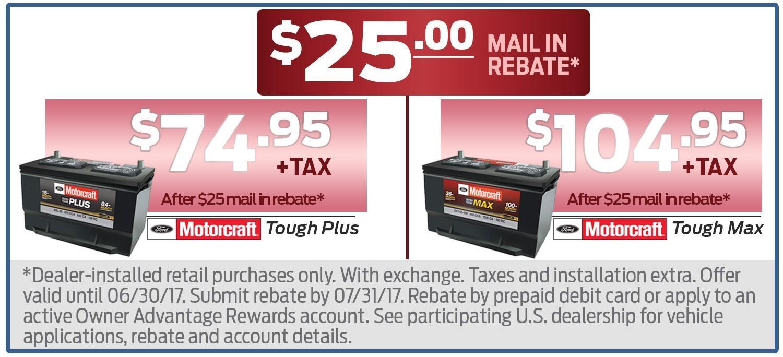 $25 Battery Rebate