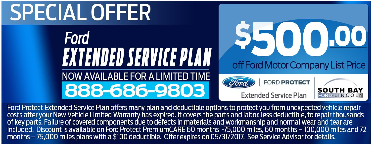 Extended Service Plan Special