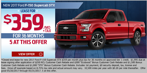 F-150 Memorial Day Lease