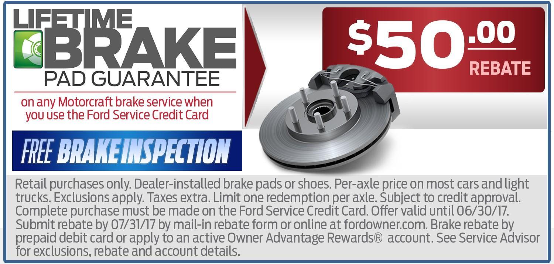 $50 Brake Rebate