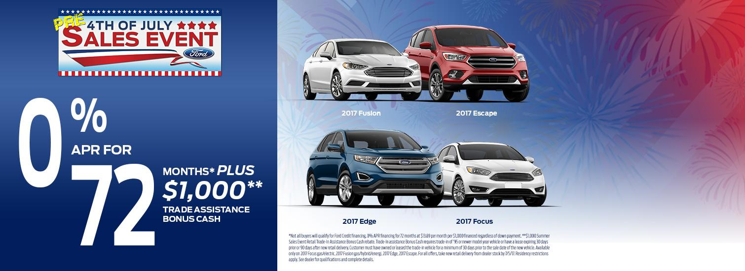 0% APR for 72 Months + $1,000!