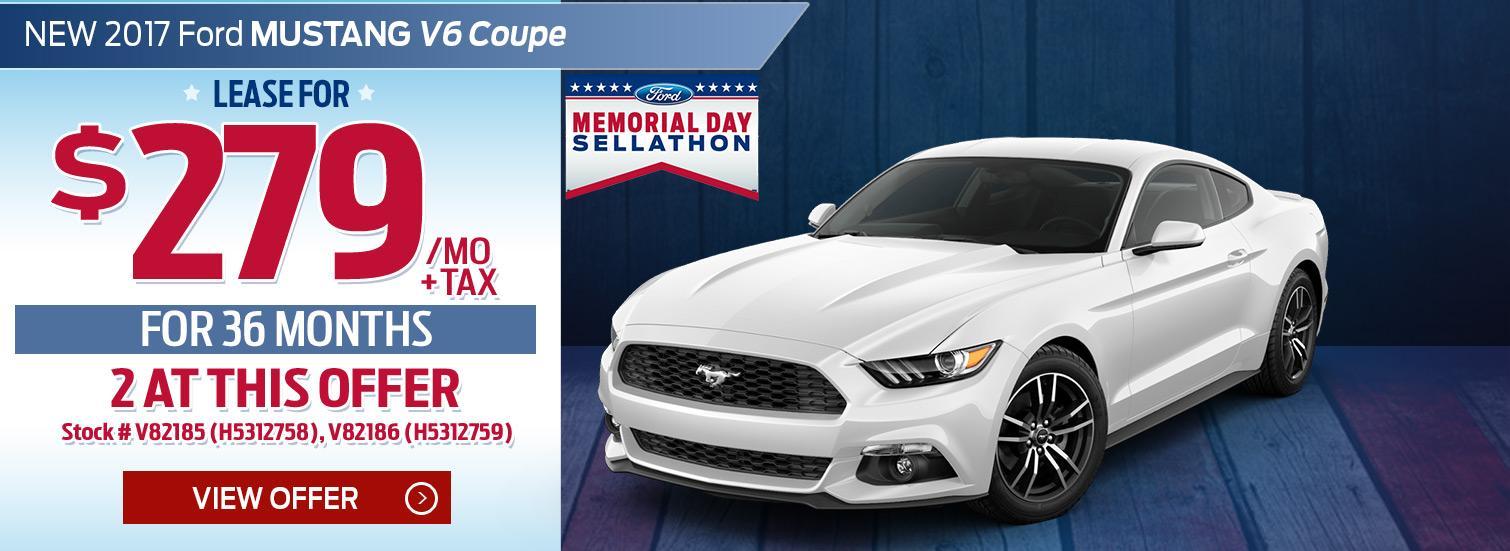 Memorial Day Mustang Lease