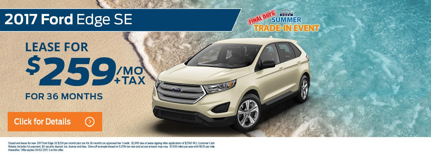 2017 Ford Edge Lease