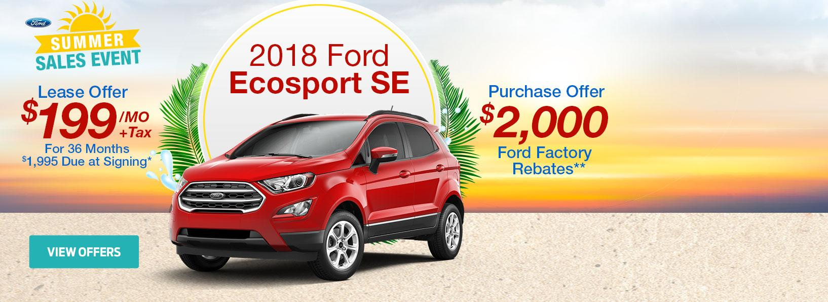 Summer Sales Event EcoSport