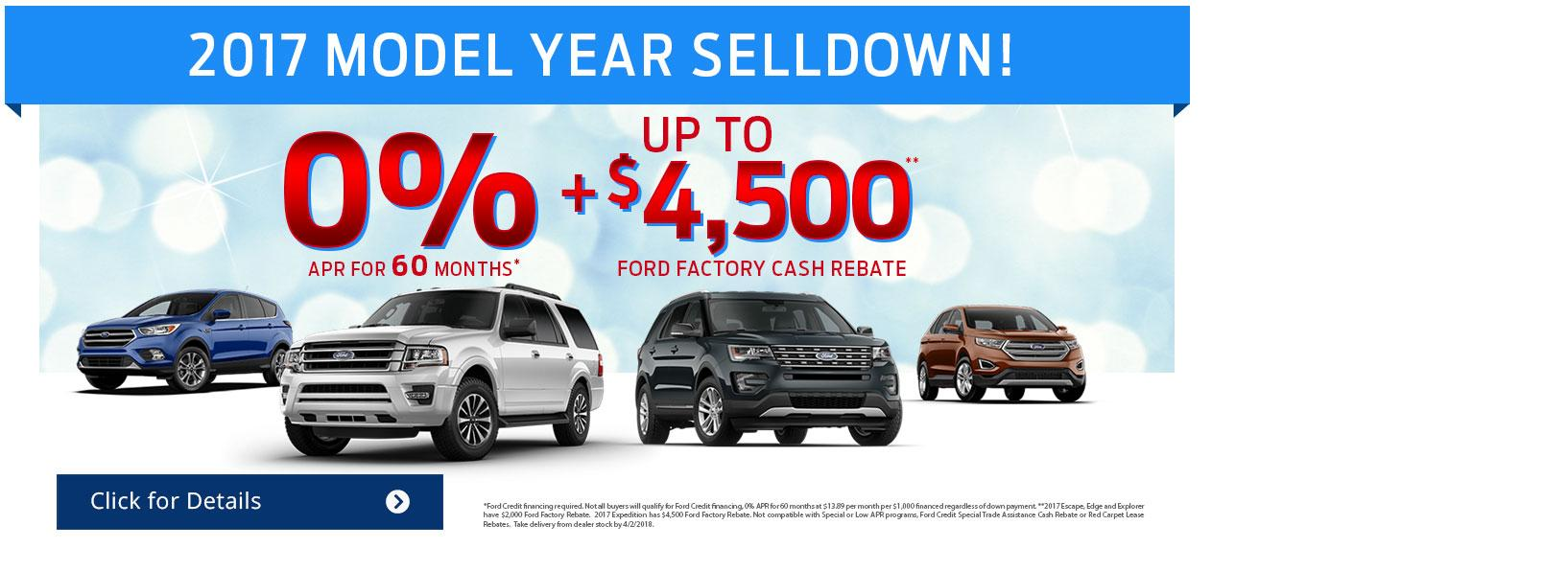 2017 Model Year Selldown