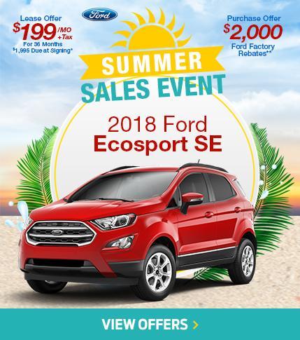 Summer Sales Event EcoSport