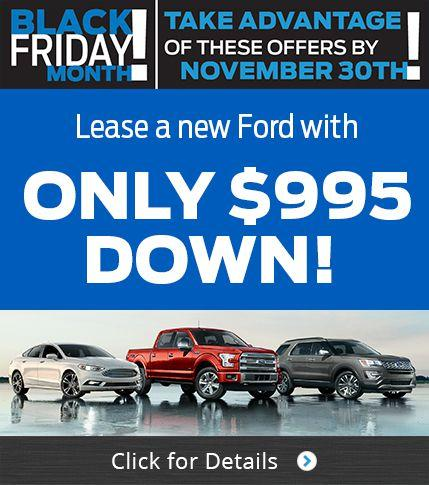 $995 Down on all Lease Deals!