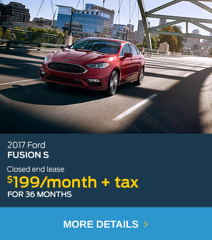 2017 Ford Fusion Lease $199/month