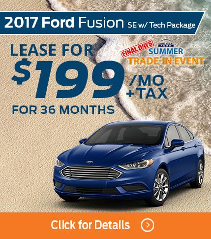 2017 Ford Fusion Lease