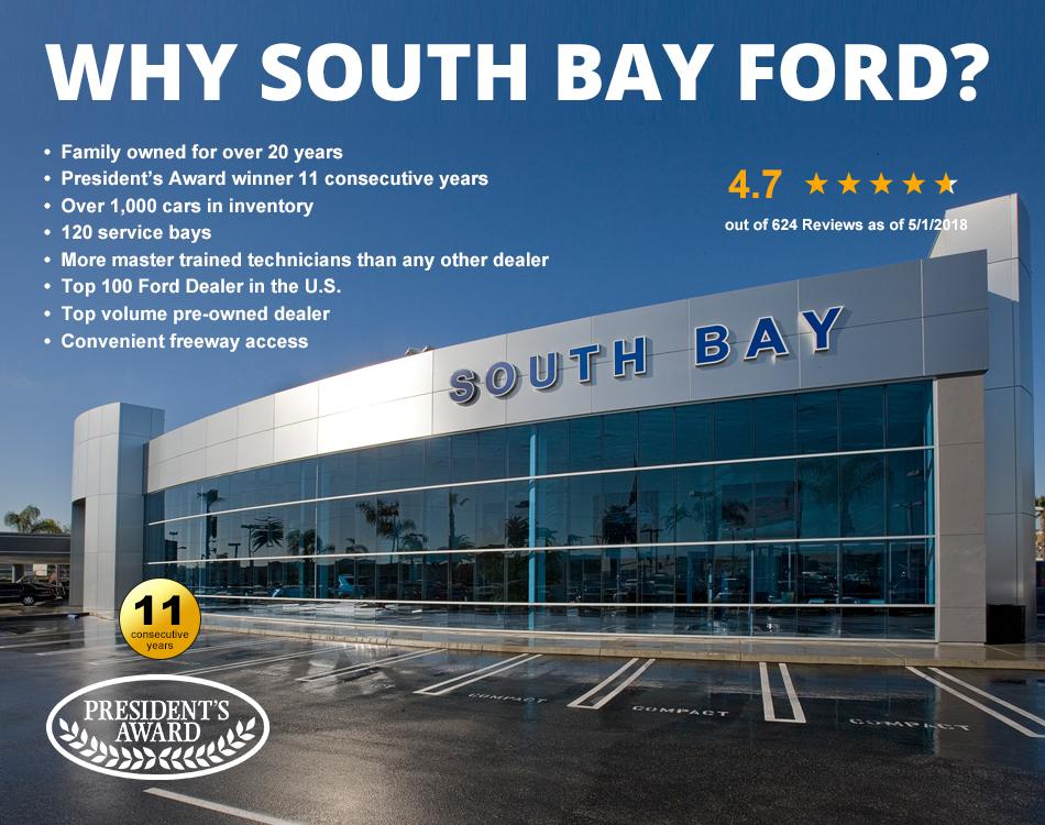 South Bay Ford Presidents Award Winner for 11 Consecutive Years