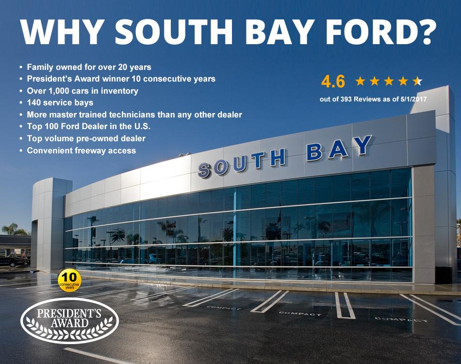 South Bay Ford Presidents Award Winner for 10 Consecutive Years