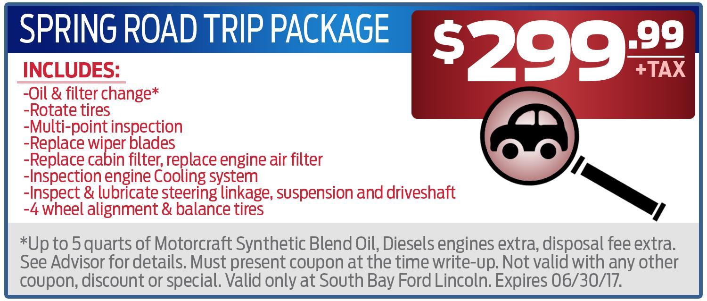 $299 Spring Road Trip Package