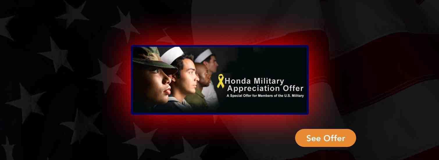 Honda Military Appreciation Offer