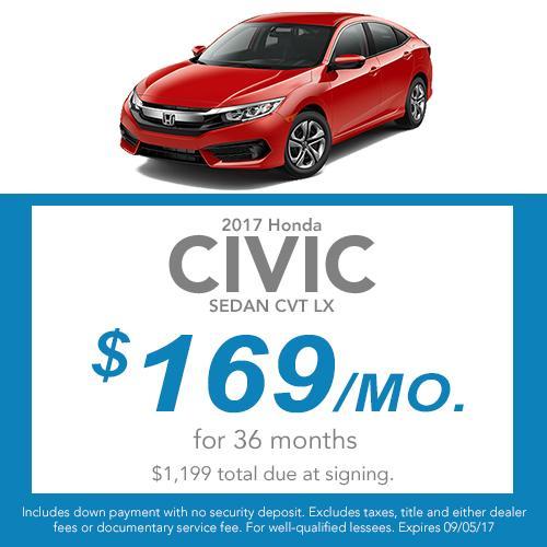 2017 Civic Sedan Lease Offer
