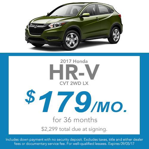 2017 HR-V Lease Offer