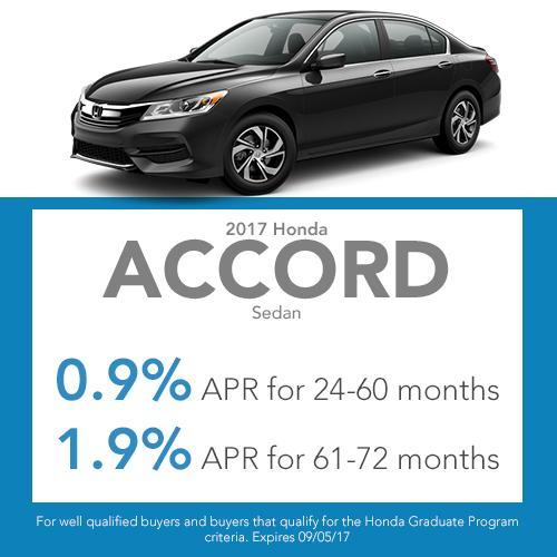 2017 Accord Sedan Finance Offer