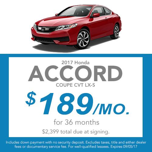 2017 Accord Coupe CVT LX-S Lease Offer