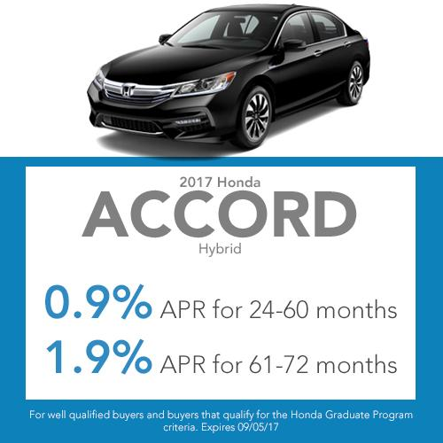 2017 Accord Hybrid Finance Offer