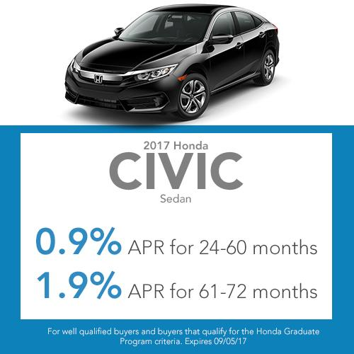 2017 Civic Sedan Finance Offer