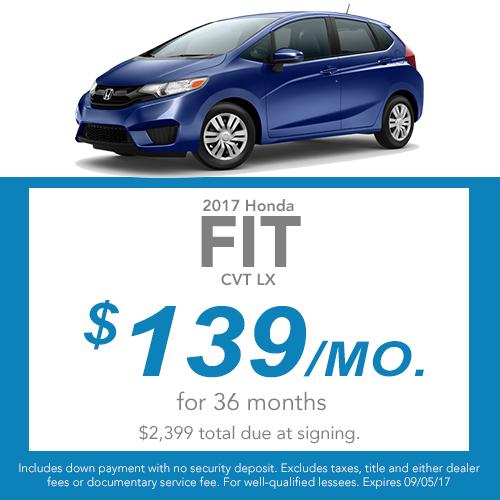 2017 Fit CVT LX Lease Offer