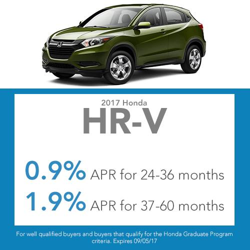 2017 HR-V Finance Lease Offer