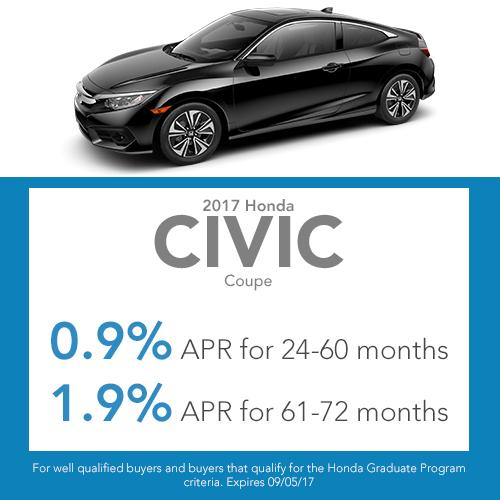 2017 Civic Coupe Finance Offer