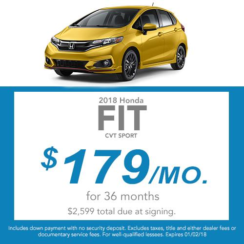 2018 Fit CVT LX Lease Offer