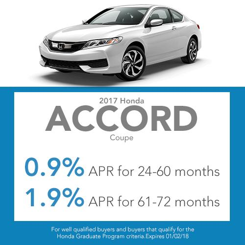2016 Honda Accord Coupe Finance Offer