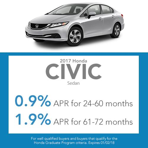 2017 Civic Sedan Lease Offer