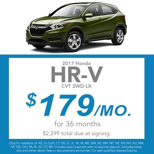 2017 HR-V CVT 2WD LX Lease Offer