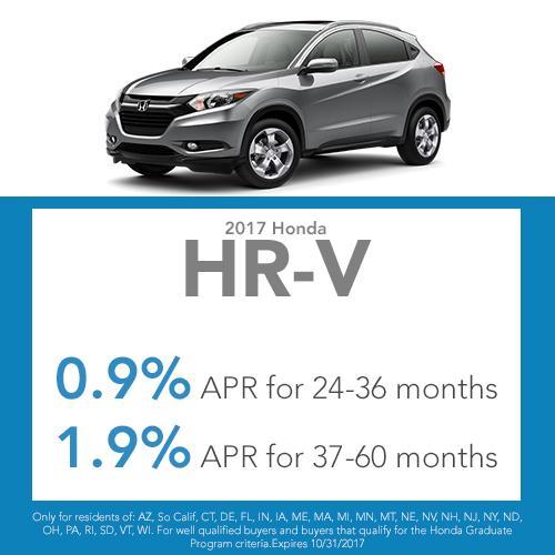 2017 HR-V CVT LX Lease Offer