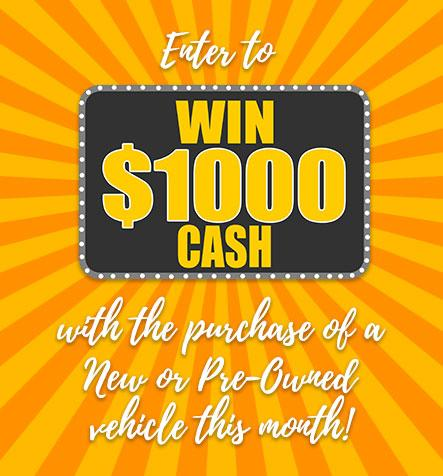 Enter to Win $1,000