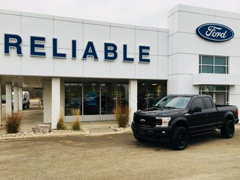 Custom Black Truck Reliable Ford
