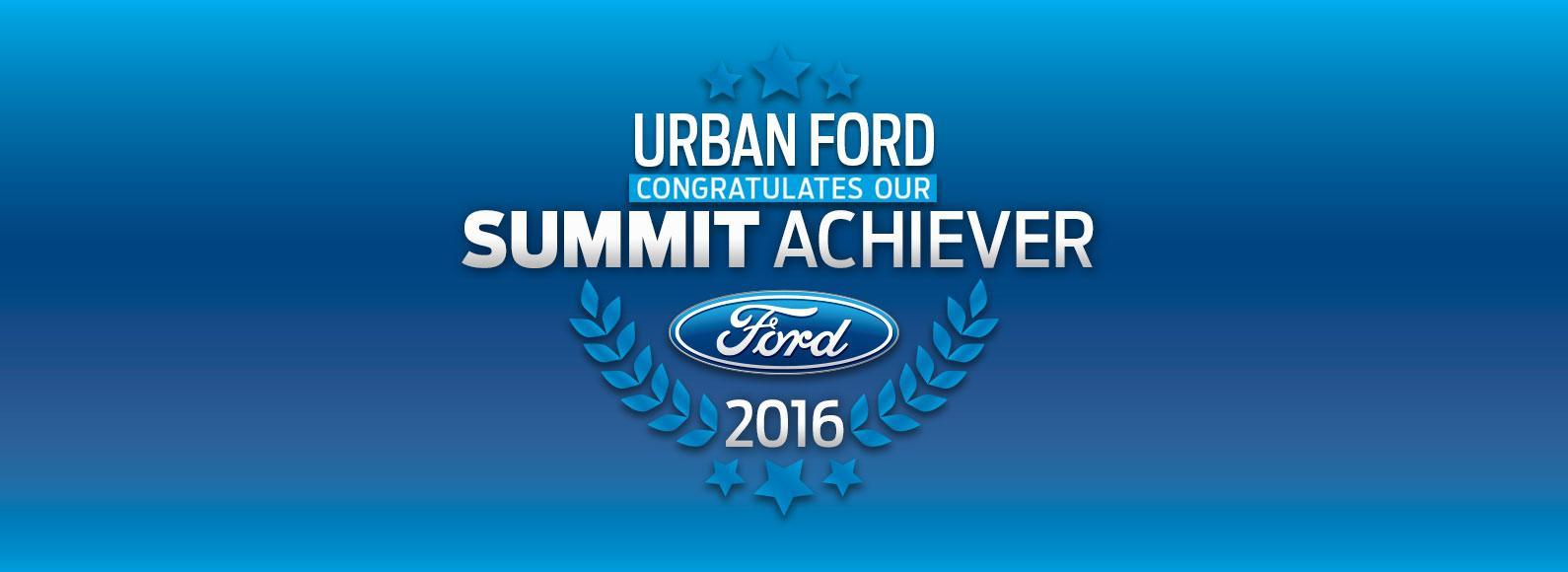 Urban Ford - Summit Achiever
