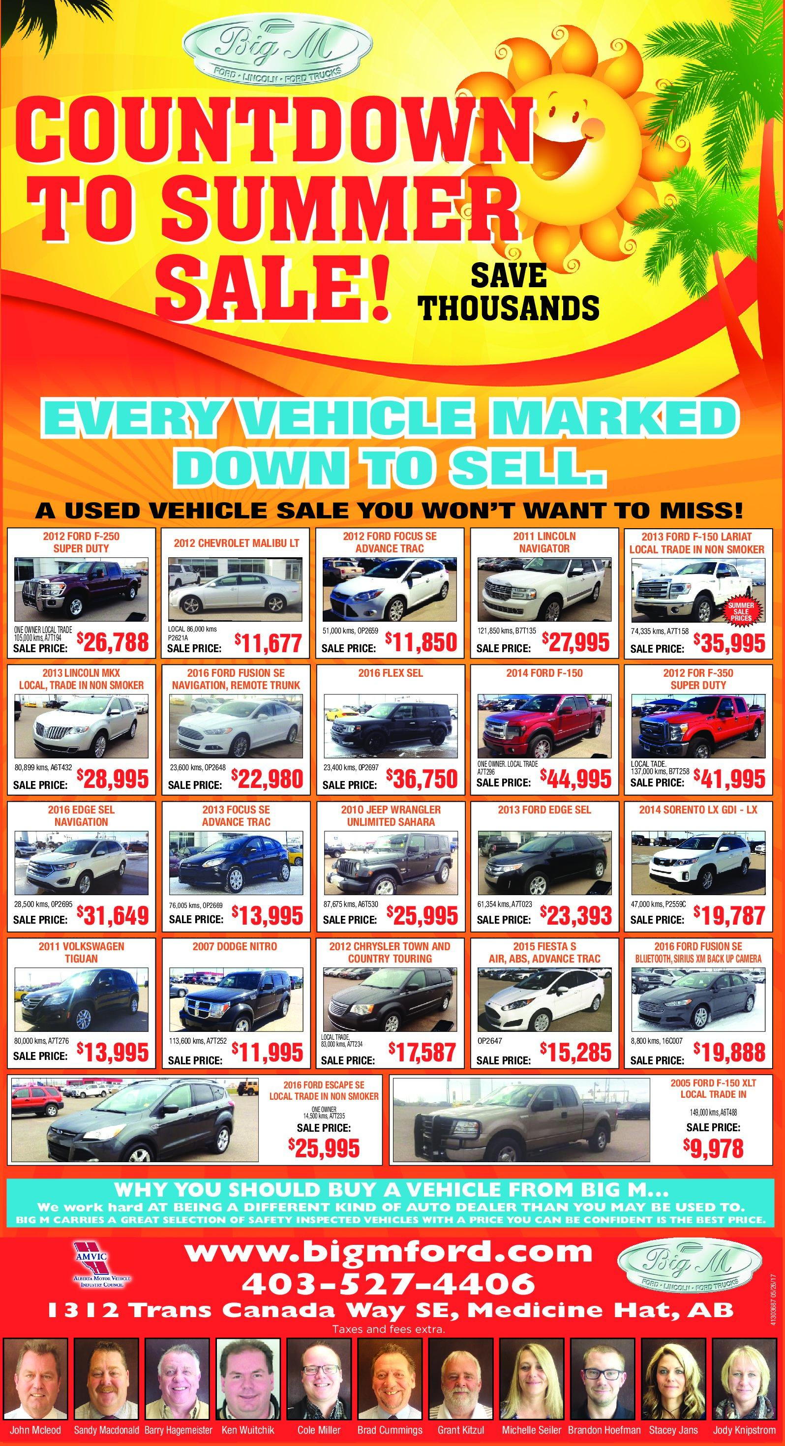 Big M Ford Used Car Specials
