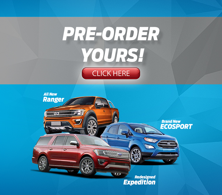 ford pre order ranger ecosport expedition