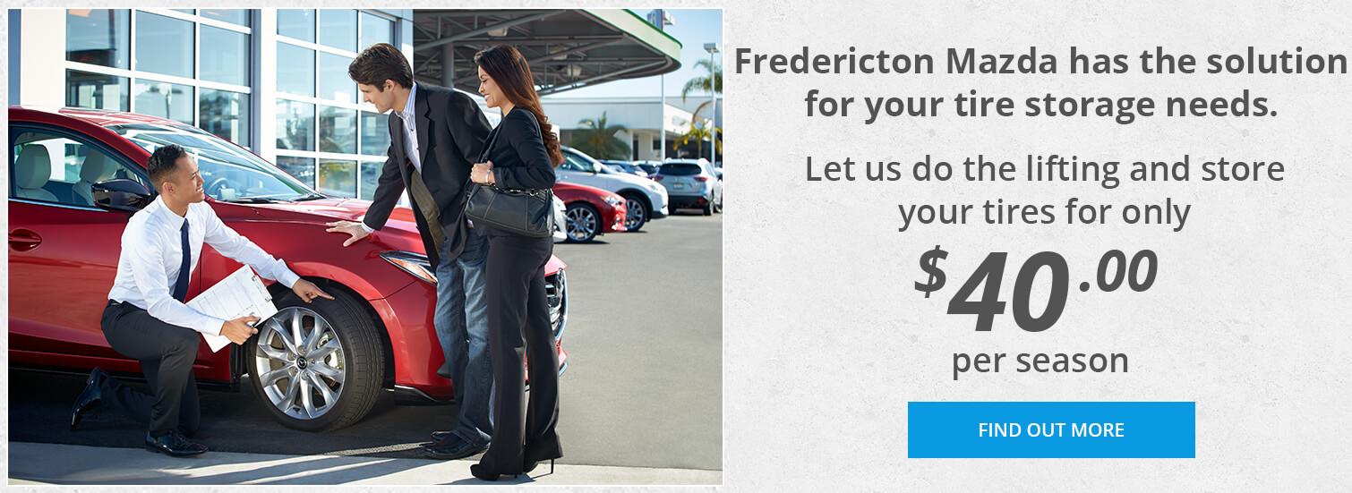 Fredericton Mazda - Tire Storage
