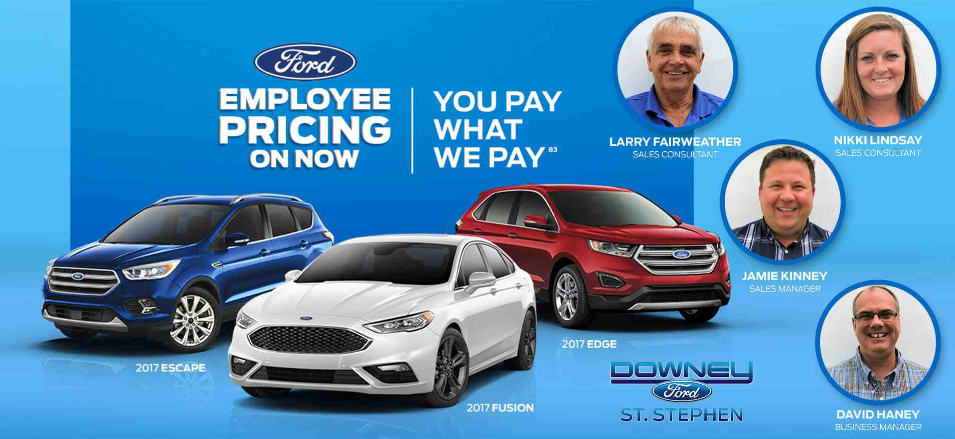 Employee Pricing | Downey Ford St. Stephen