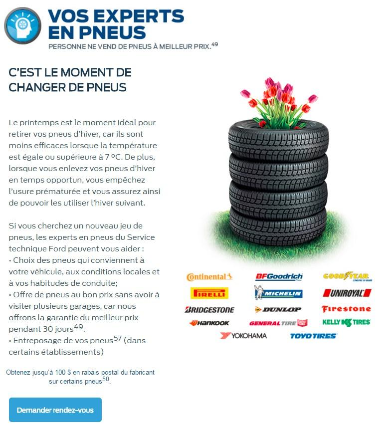 Pneus service Paquin Ford