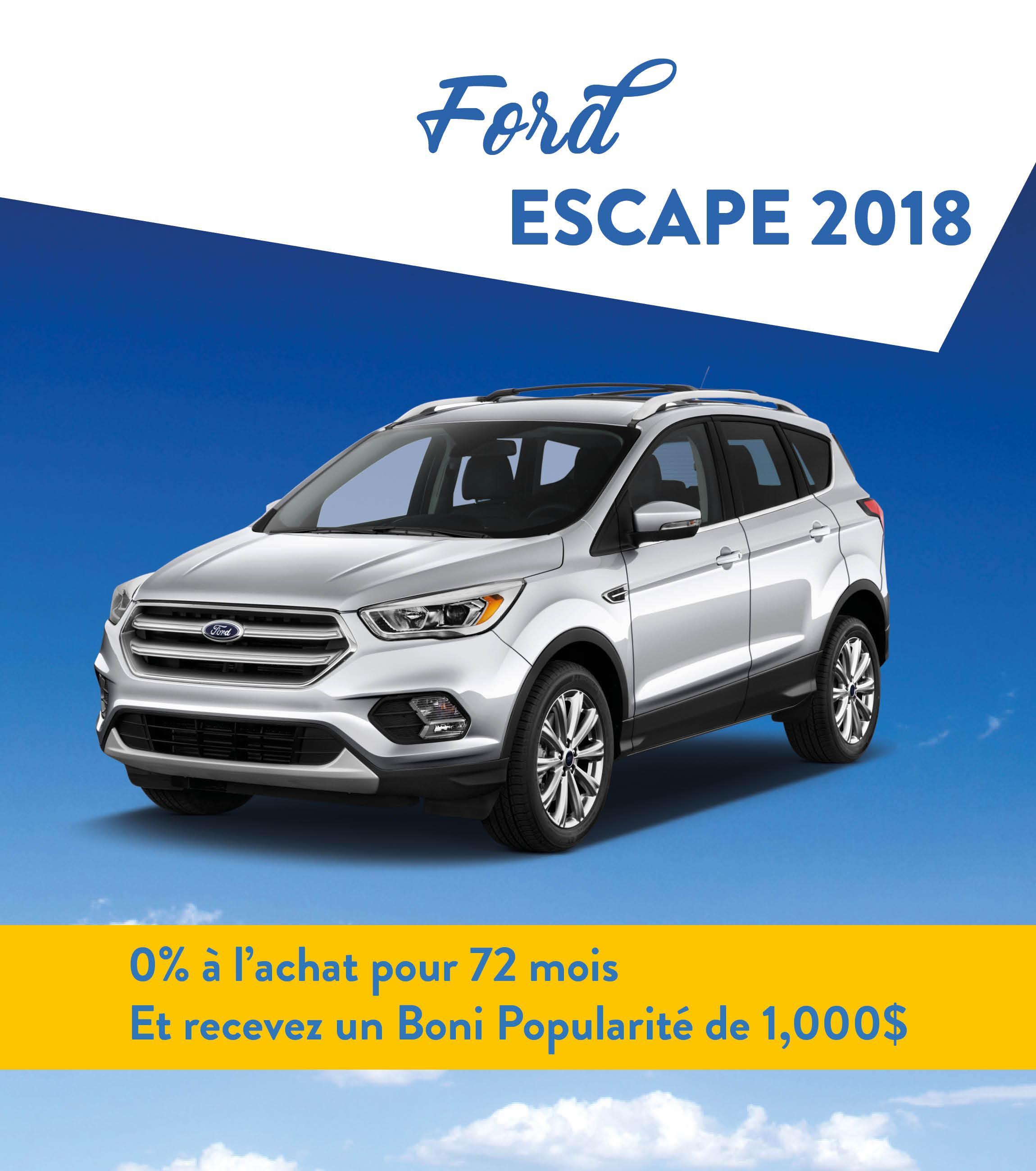 Escape promotion mars 2018