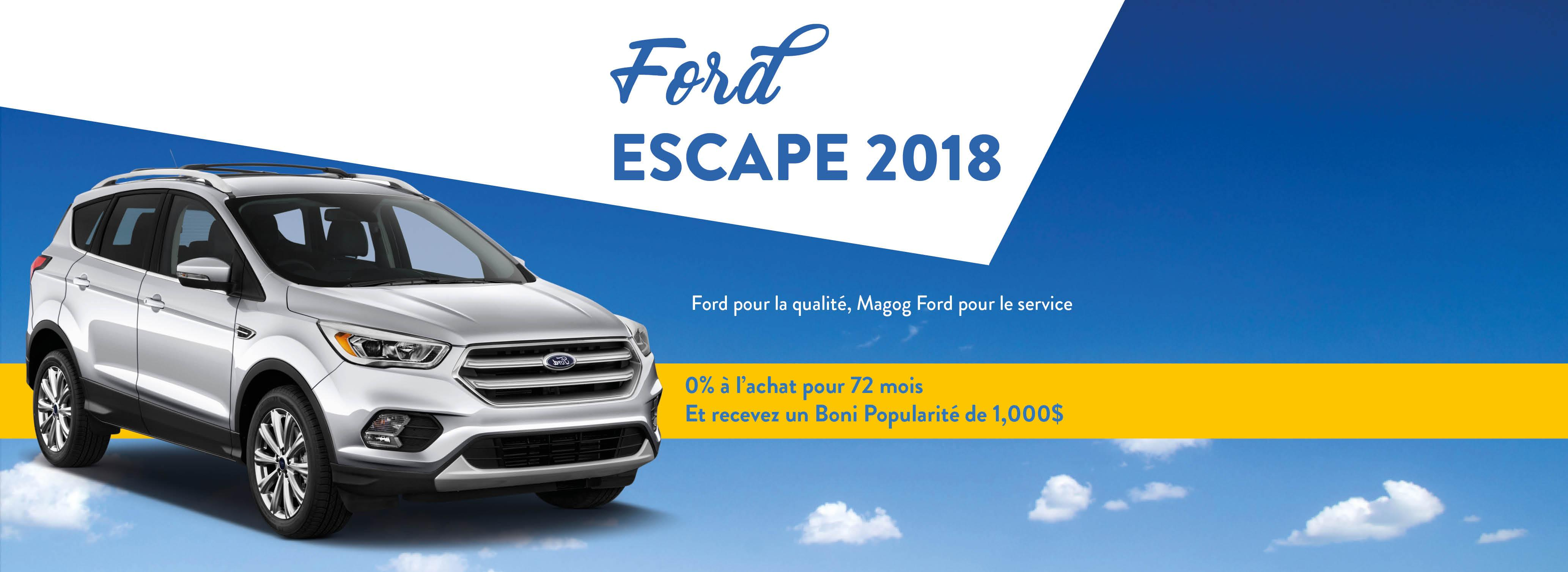 Ford Escape 2018 Promotion