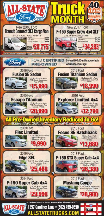All-State Ford Spring Truck Sale