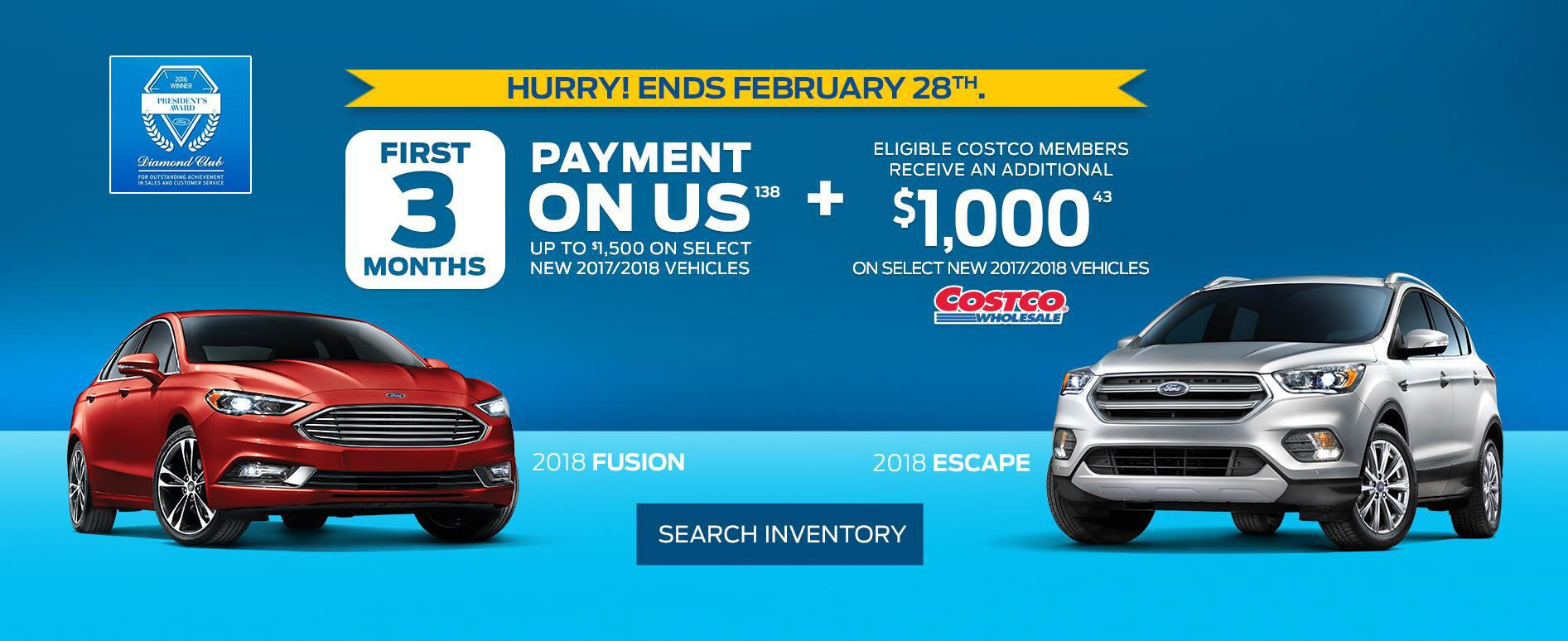 First 3 Months Payment on us at Lincoln Heights Ford