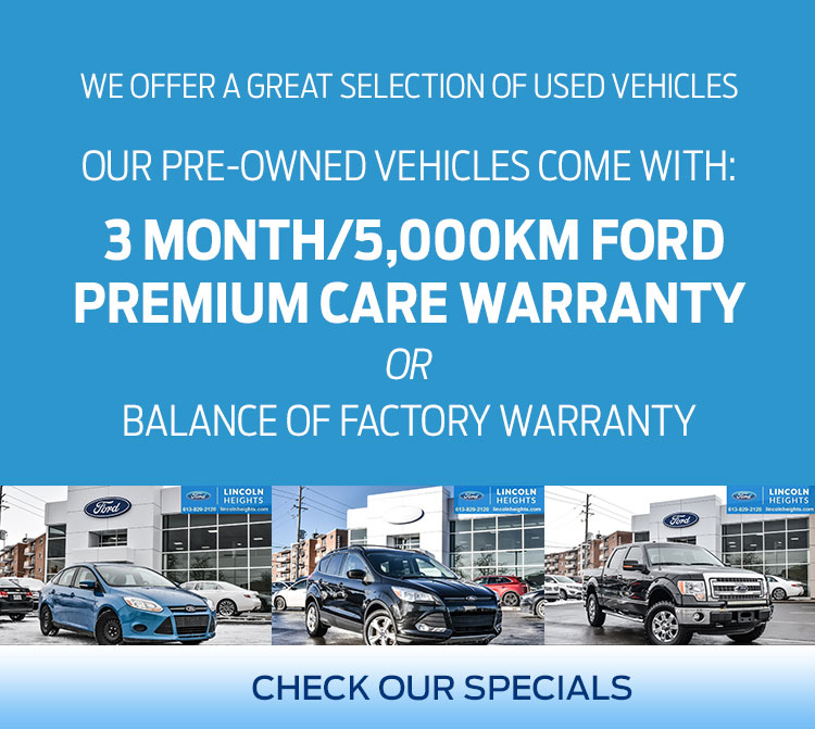 Lincoln Heights Ford Used Vehicle Offers in Ottawa Ontario