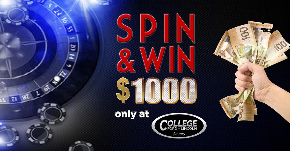 Spin &Win $1000 banner