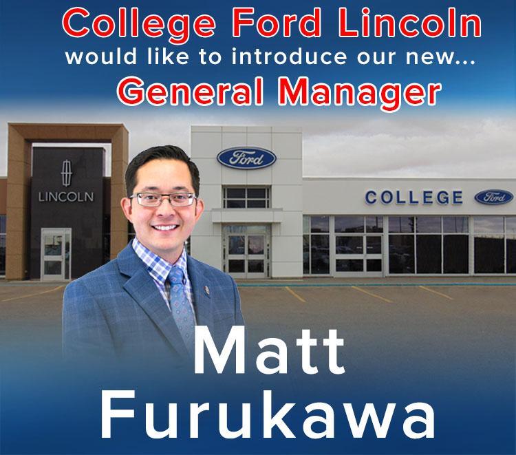 New GM Matt Furukawa