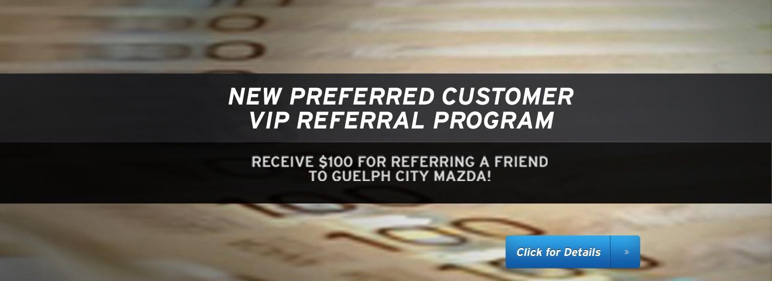 Guelph City Mazda - VIP Program