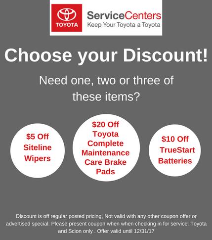 Pedersen Toyota Service Discount